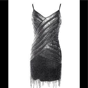Sue Wong beaded sequin flapper dress 6